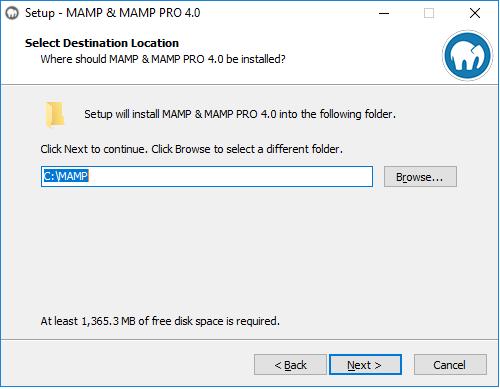 MAMP PRO (Windows) Documentation > New MAMP PRO Installation